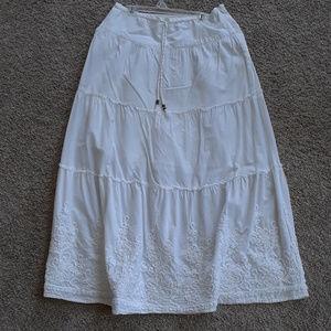 Womens White Jones New York Long Skirt